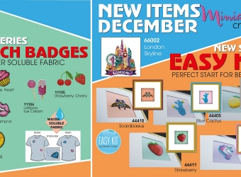 New Miniart Crafts Embroidery Kits Available: December 2019