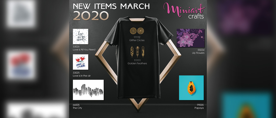 Miniart Crafts - New Items March 2020