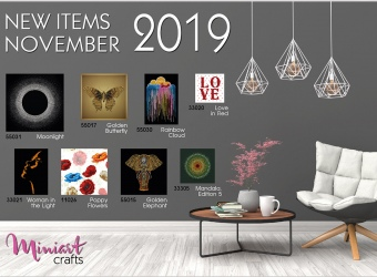 New Miniart Crafts Embroidery Kits Available: November 2019